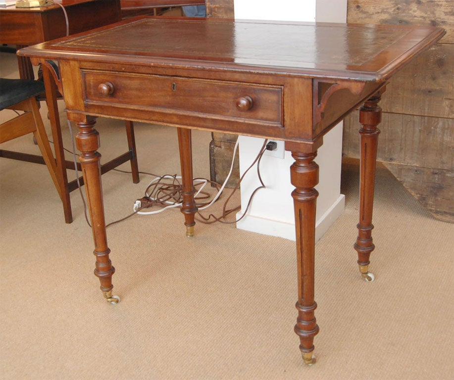 19th century mahogany library sofa table at 1stdibs for Table insert th