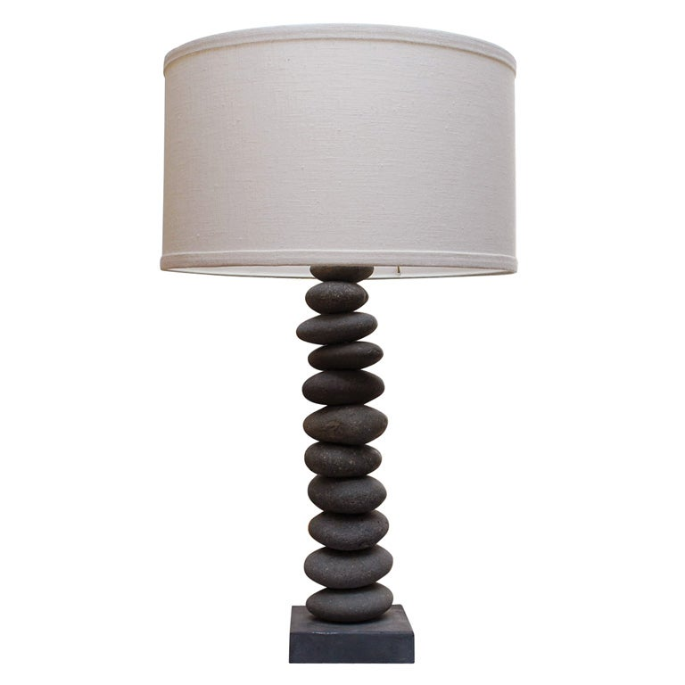 River Rock Lamp At 1stdibs