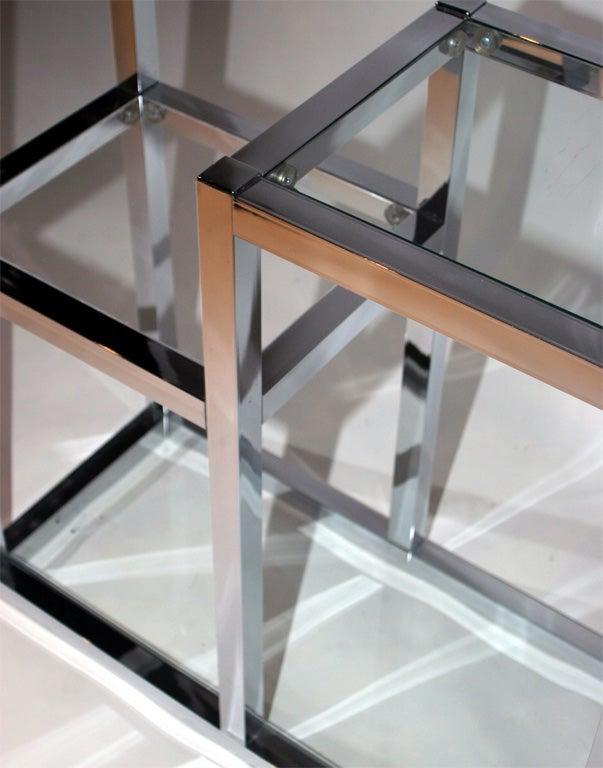 Aluminum and glass etag re at 1stdibs - Etagere aluminium design ...