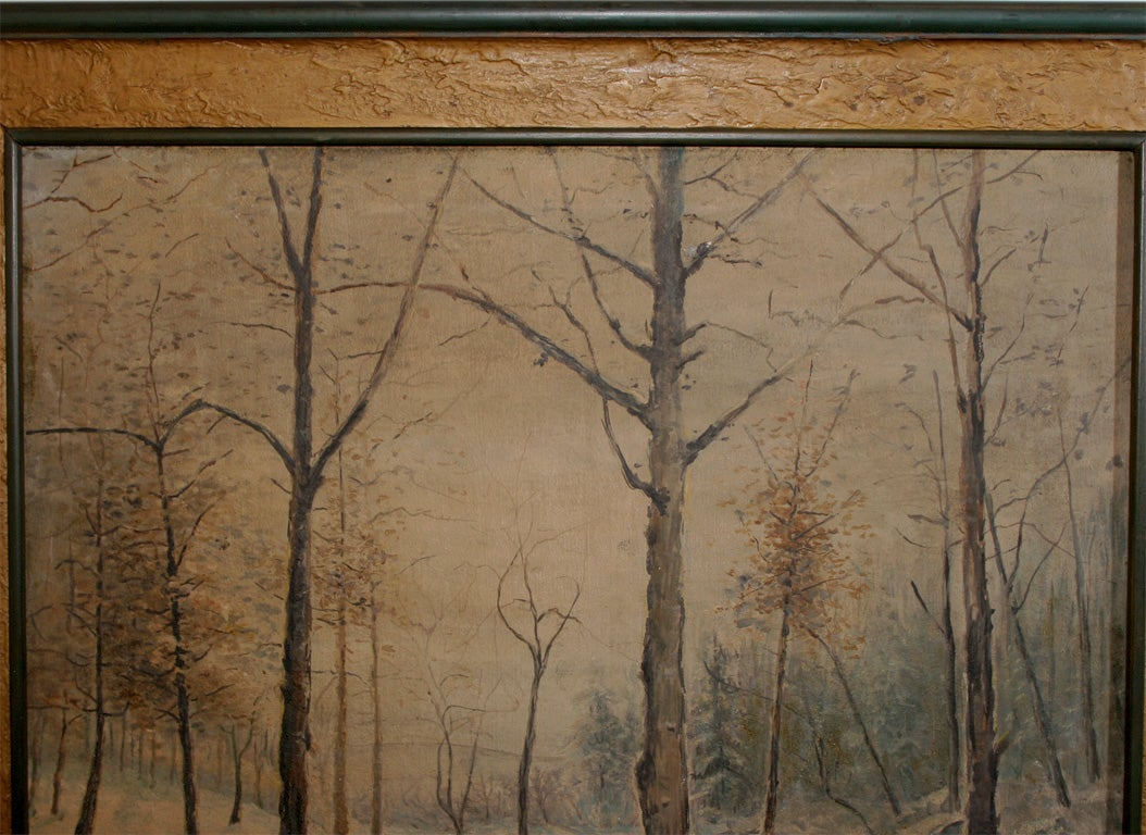 Signed Oil Painting:  Winter Landscape For Sale 1