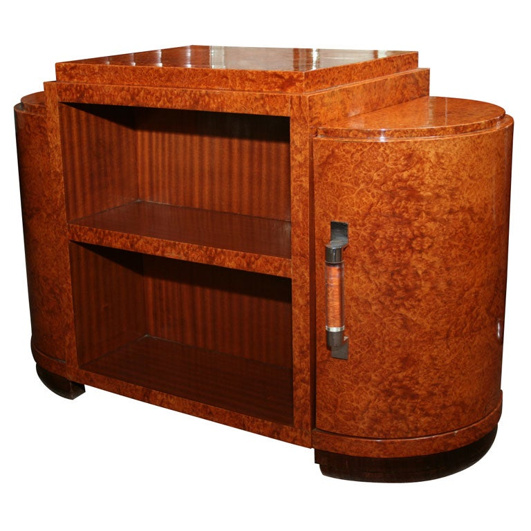 Art Deco Side Table Bar Cabinet At 1stdibs
