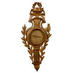 Louis XVI Period Gilt-wood Barometer with Globe, c. 1790