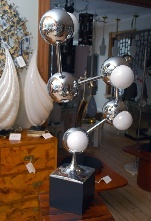 Contemporary Chromed Multi Head Table Lamp At 1stdibs