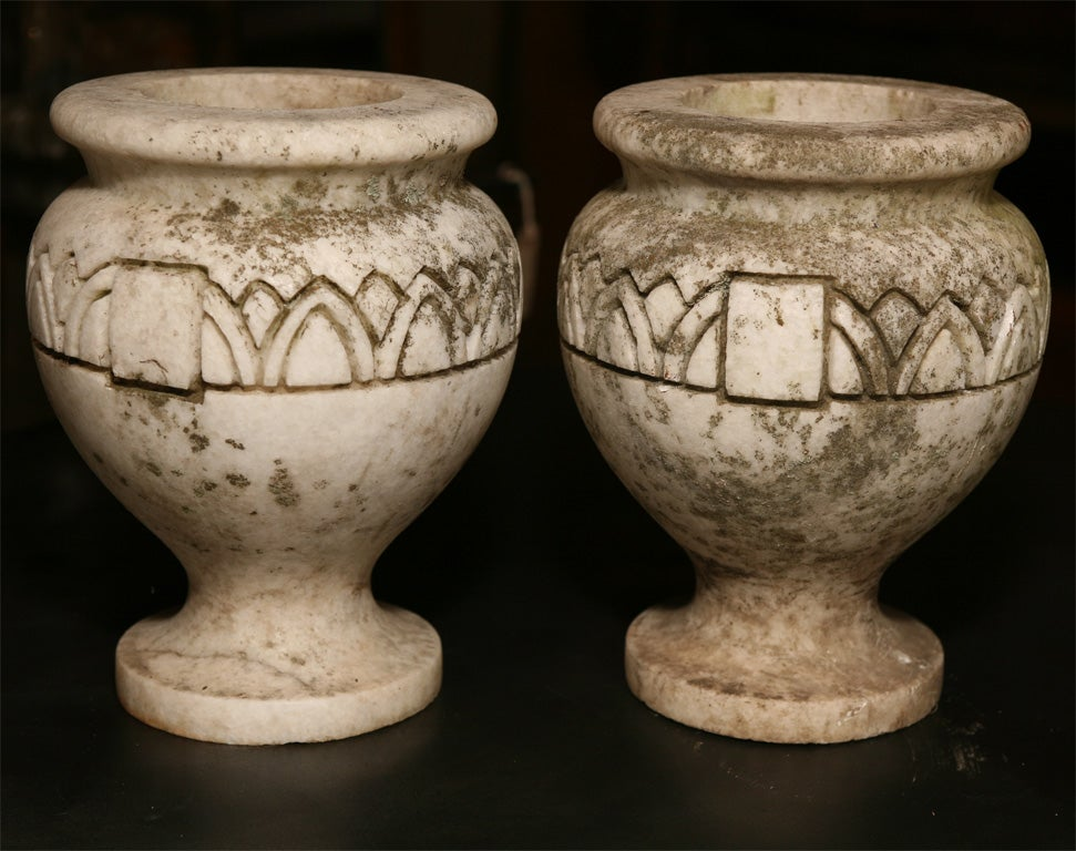 Pair Stone Planters In Excellent Condition For Sale In Hudson, NY
