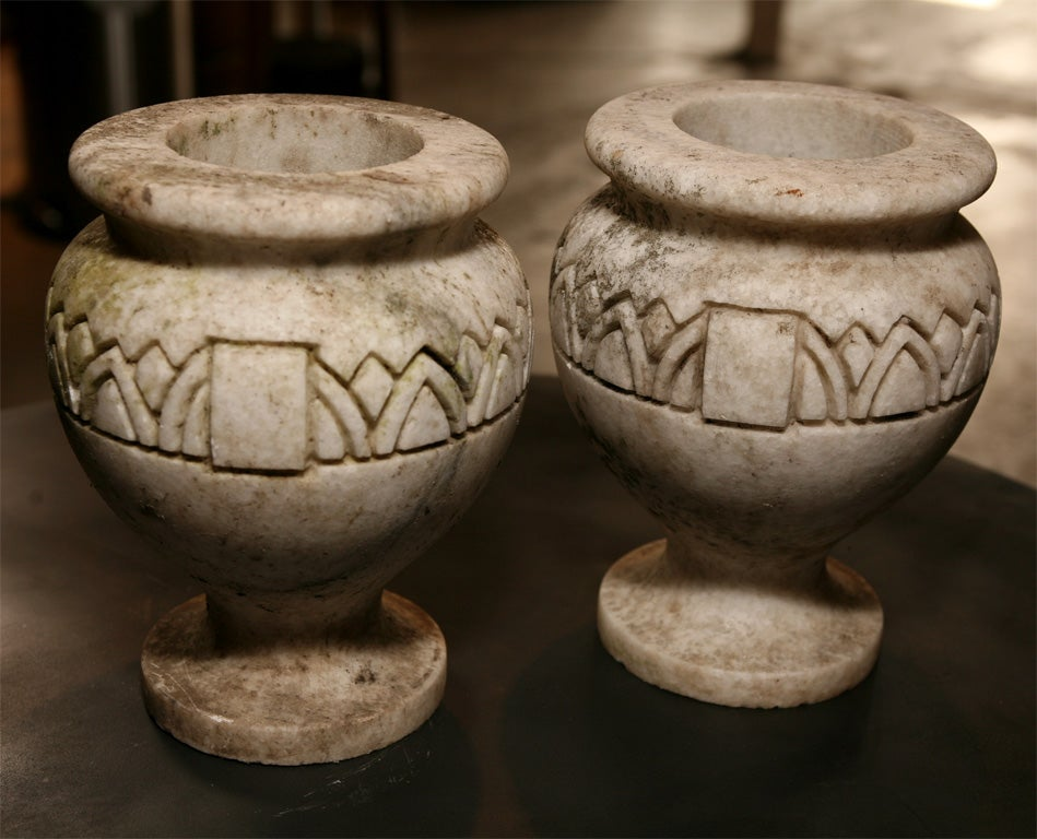 20th Century Pair Stone Planters For Sale