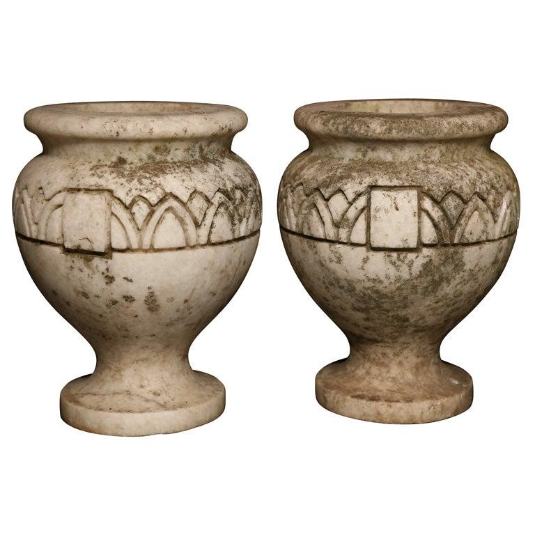 Pair Stone Planters