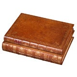 A 19th Century Set of Antique Books Bound as a Box