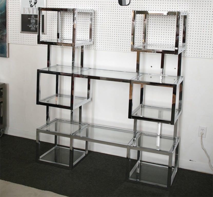 1970 39 s chromed cube designer etagere at 1stdibs - Etagere cube castorama ...