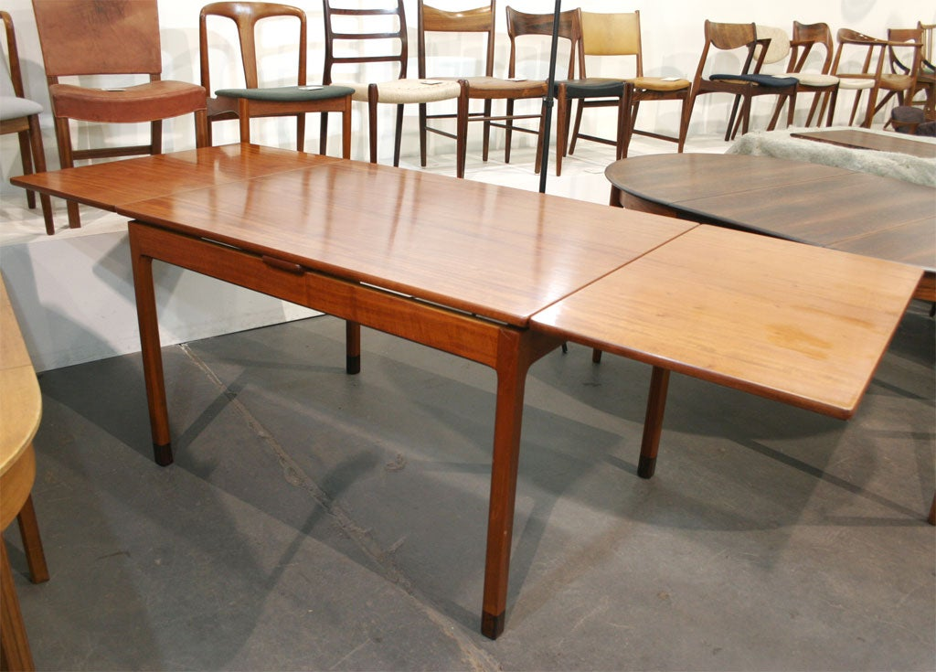 Rectangular Mahogany Extension Dining Table by Willy Beck  : MG7820 from www.1stdibs.com size 1024 x 735 jpeg 111kB