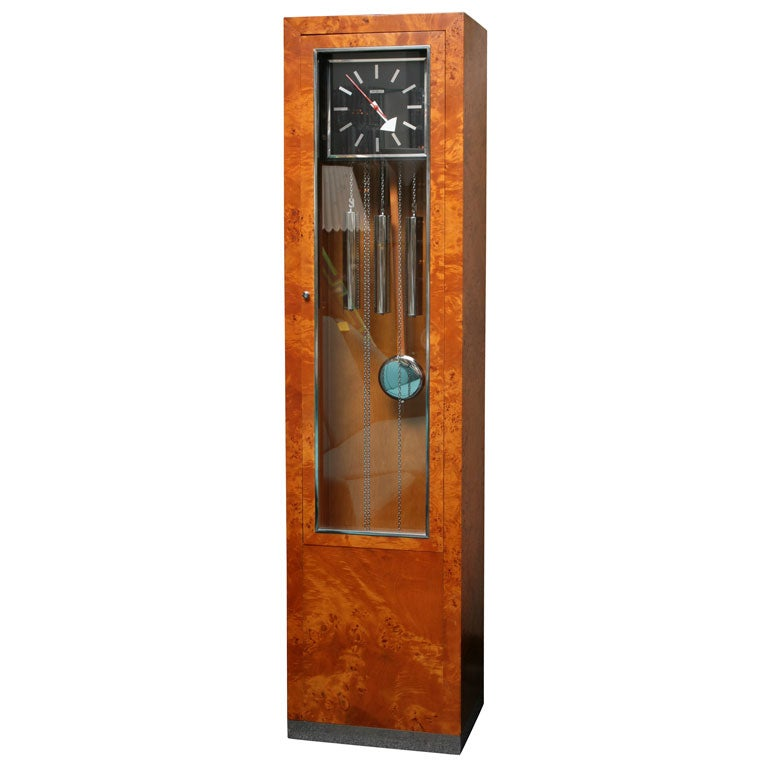george nelson howard miller burl grandfather clock 1 - Howard Miller Grandfather Clock
