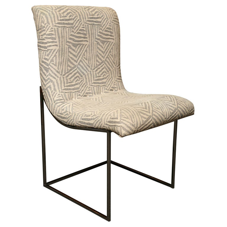 Four Milo Baughman Scoop Dining Chairs Chrome At 1stdibs