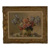 19th Century French Framed Floral Still Life Painting