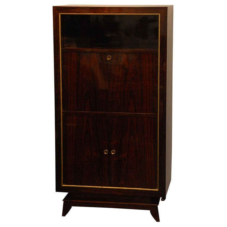 secretary mural in the style of rene prou at 1stdibs. Black Bedroom Furniture Sets. Home Design Ideas