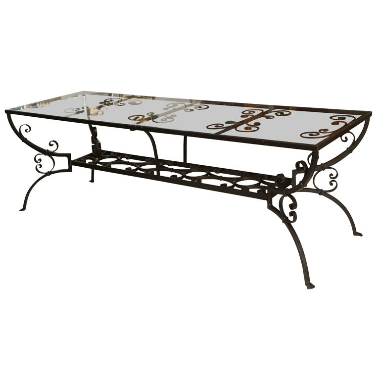 Wrought Iron Dining Table with Glass Top at 1stdibs : xIMG8936 from www.1stdibs.com size 768 x 768 jpeg 40kB