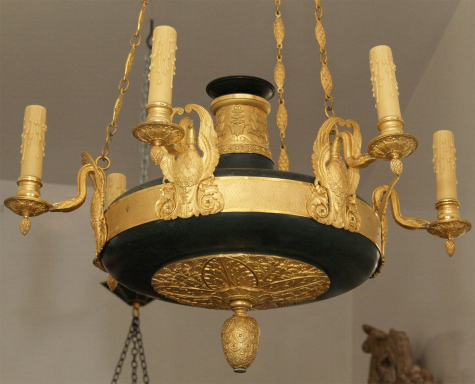 19th Century Empire Chandelier For Sale