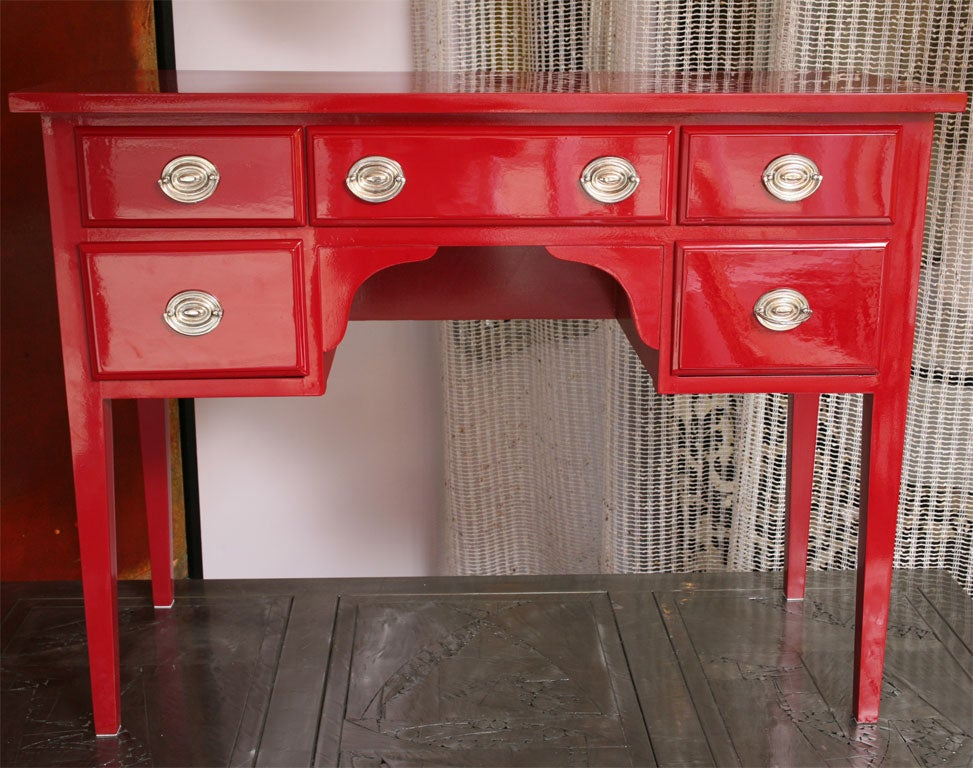 Chanel Red Dressing Table Or Commode At 1stdibs