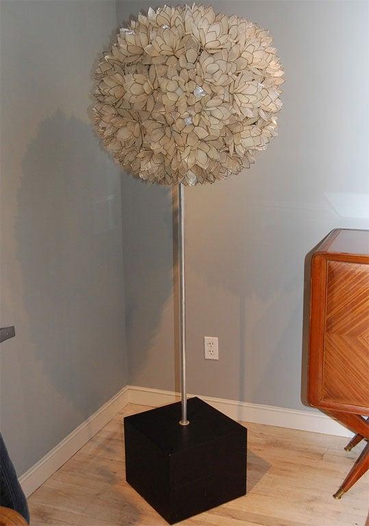 mother of pearl floor lamp at 1stdibs. Black Bedroom Furniture Sets. Home Design Ideas