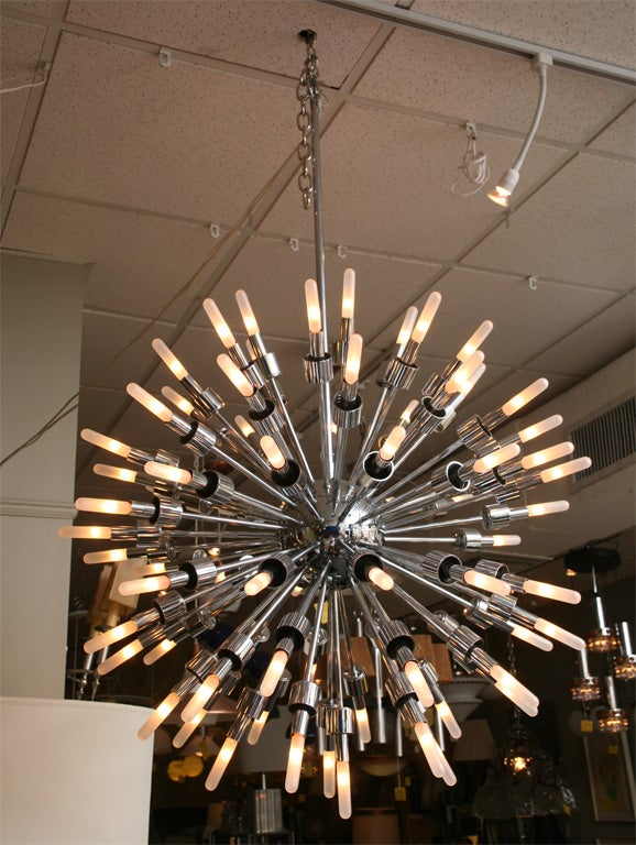 Monumental 75 Arm Sputnik Starburst Chandelier at 1stdibs