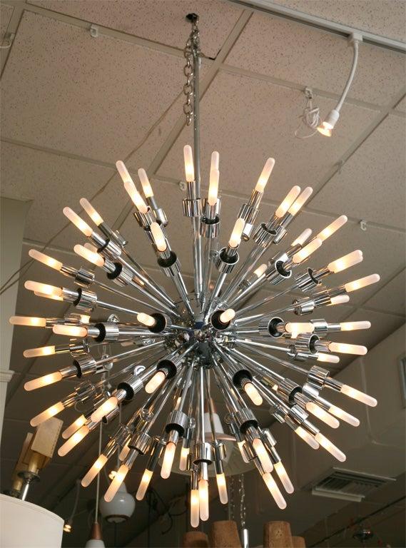 monumental 75 arm sputnik starburst chandelier at 1stdibs. Black Bedroom Furniture Sets. Home Design Ideas
