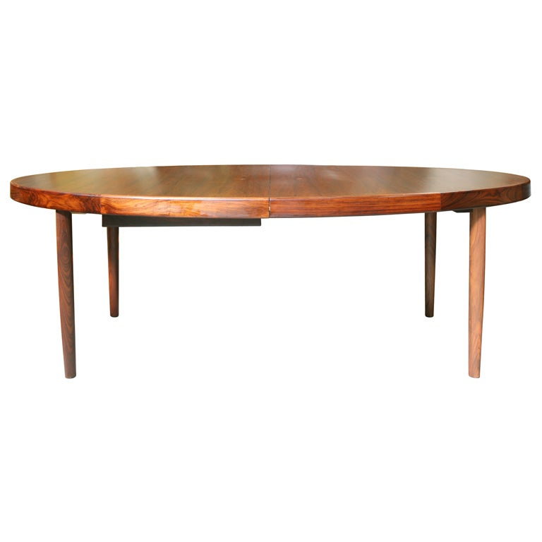 Elliptical Rosewood Dining Table For Bramin At 1stdibs