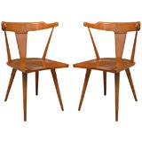 Pair of Maple Arm Chairs by Paul McCobb