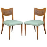 Pair of Caned Back Side Chairs