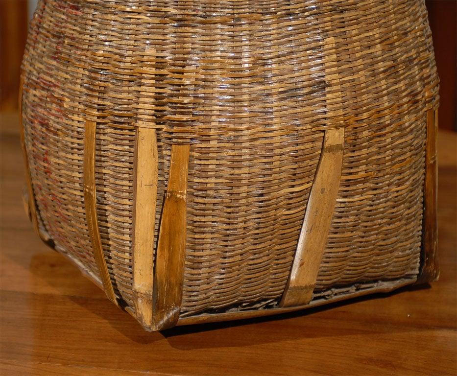 Basket Weaving Supplies Atlanta : Th c large woven chinese fish basket at stdibs