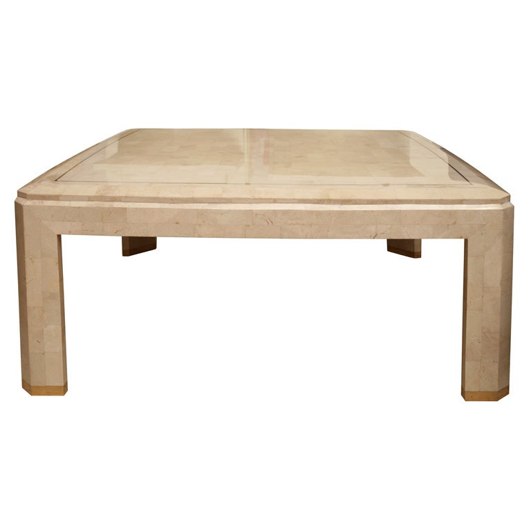 Maitland Smith Tesselated Fossil Stone Coffee Table At 1stdibs