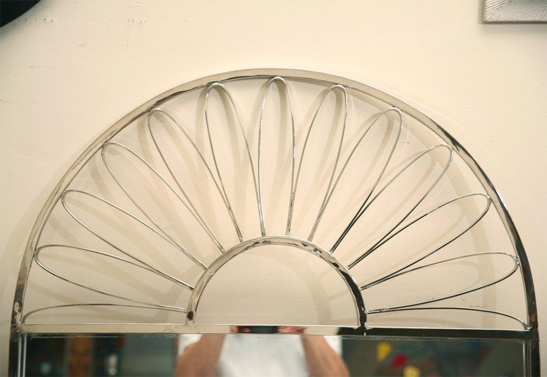 Mid-20th Century Nickel Silver Mirror Vintage Italian For Sale