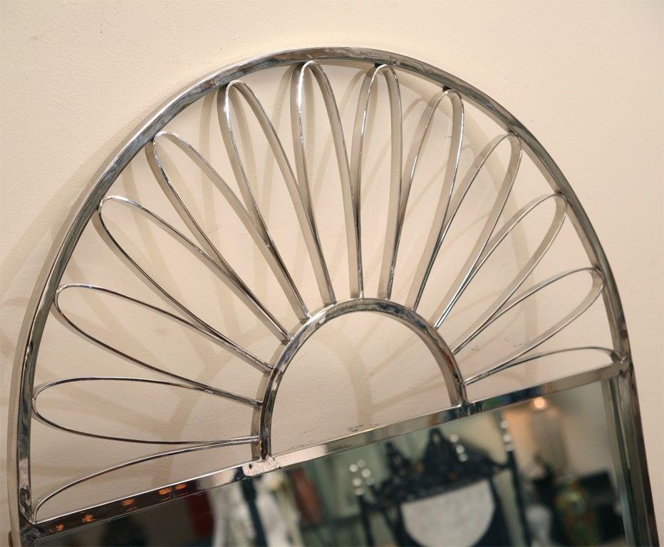 Nickel Silver Mirror Vintage Italian For Sale 2