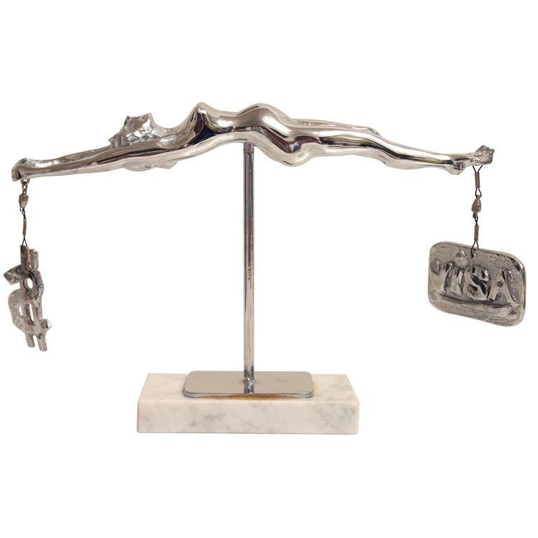 "Sculpture by James David Berenson Titled "" Temperance"""