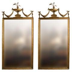 Pair of Adam Giltwood Pier Mirrors