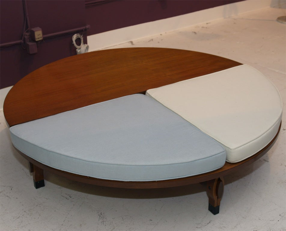 coffee table with seating by ico parisi at 1stdibs. Black Bedroom Furniture Sets. Home Design Ideas