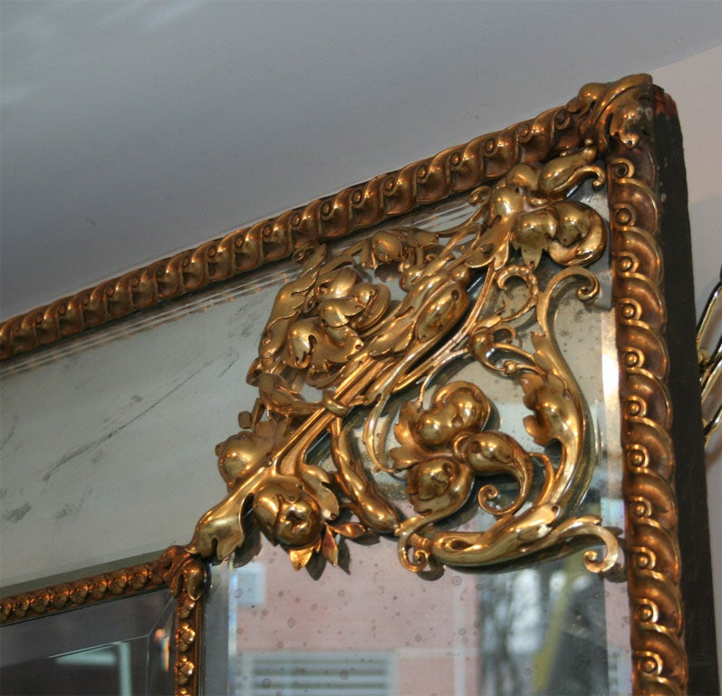 A dutch baroque style mirror at 1stdibs for Dutch baroque architecture