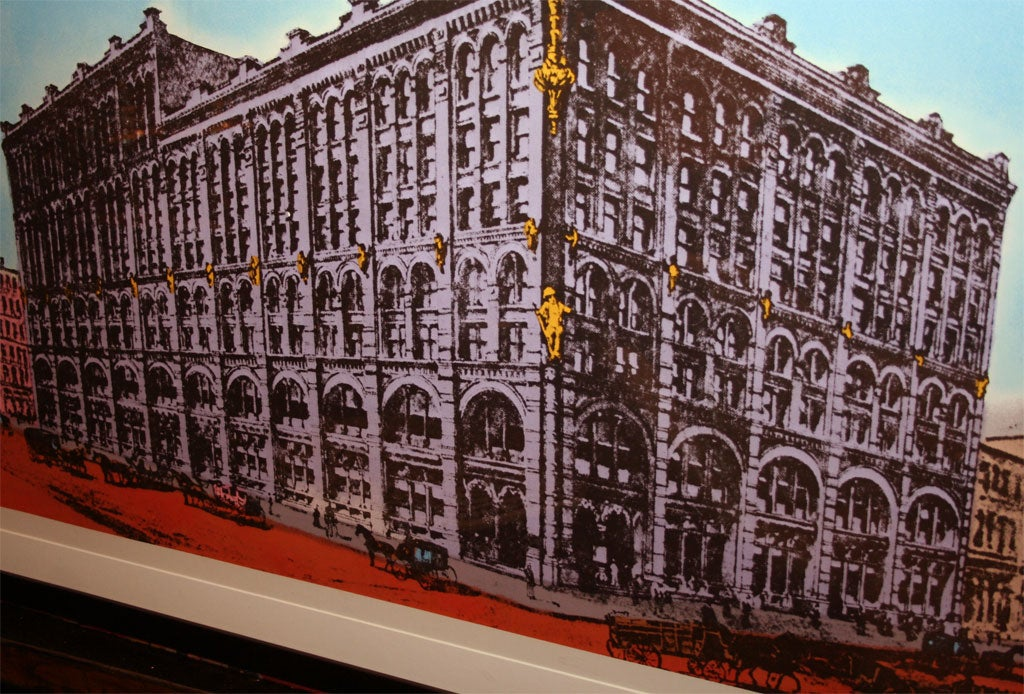 Puck building silk screen by peter gee at 1stdibs for Puck building