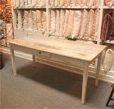 LATE 19THC ORIGINAL WHITE PAINTED  FARM TABLE FROM PENNSYLVANIA image 3