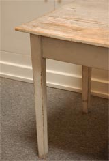 LATE 19THC ORIGINAL WHITE PAINTED  FARM TABLE FROM PENNSYLVANIA image 5