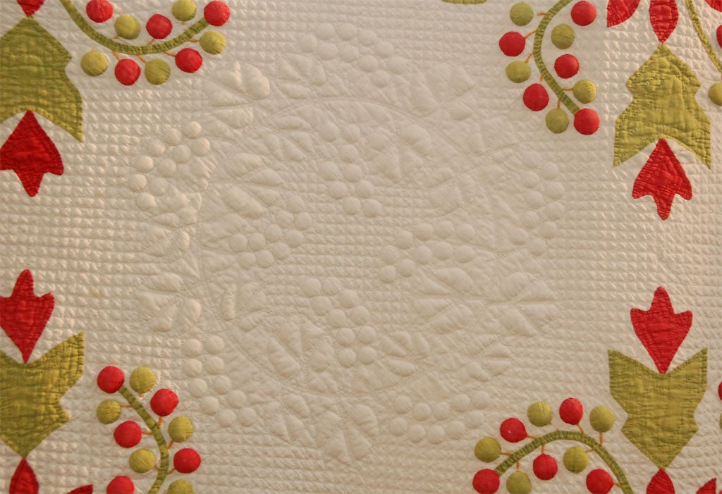19th Century Trapunto And Applique Quilt At 1stdibs