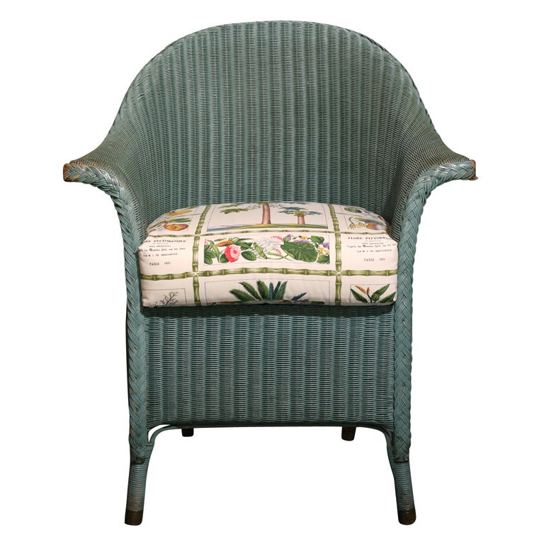 Lloyd loom chair at 1stdibs for H furniture loom chair