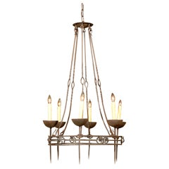 19th Century Northern Italian Iron 6-Light Chandelier