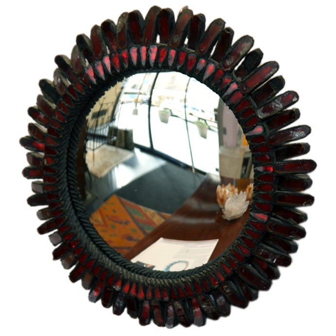 Line vautrin red miroir sorciere at 1stdibs for Miroir sorciere line vautrin
