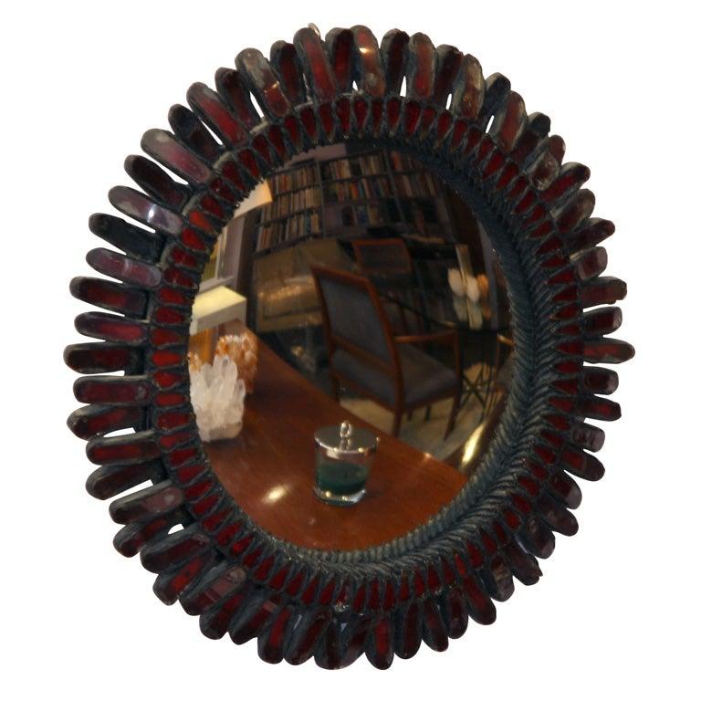 Line vautrin red miroir sorciere at 1stdibs for Miroir sorciere