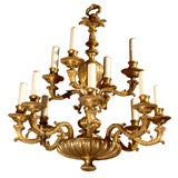 Antique Chandelier Regence Style Gilt Bronze Chandelier