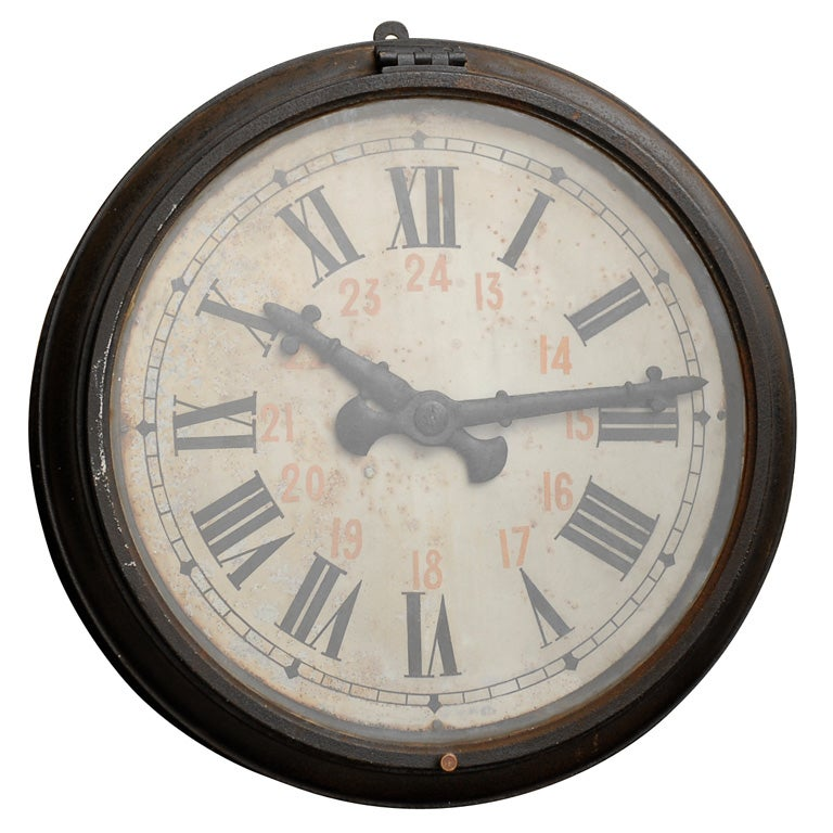 French Industrial Clock 1920 S At 1stdibs