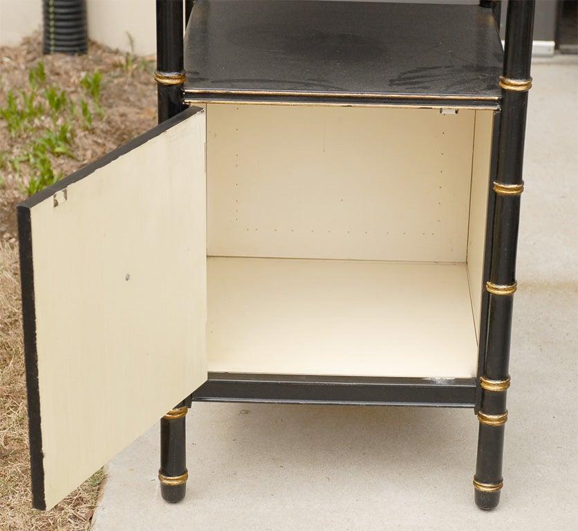 ebonized etagere with gilt detail for sale at 1stdibs. Black Bedroom Furniture Sets. Home Design Ideas