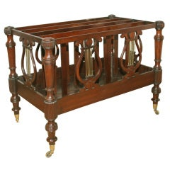 Large Regency Carved Mahogany and Brass Double Canterbury, English, circa 1810