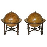Matched Pair of Antique Globes by Newton, Son & Berry. English, Circa 1834