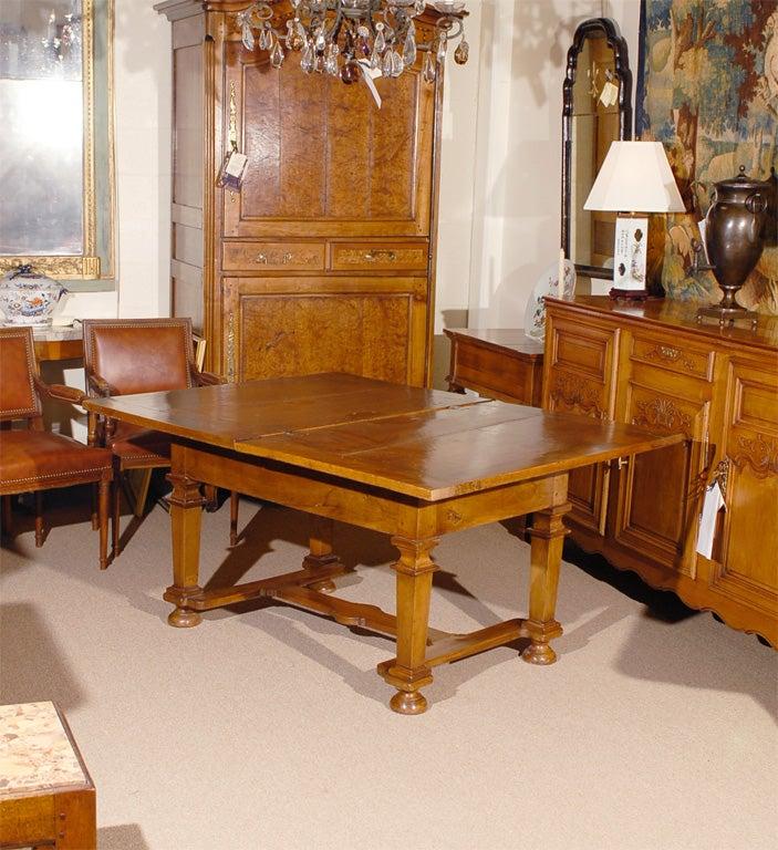 Unusal 18th Century Walnut Dining Table, France. at 1stdibs