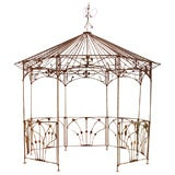 Octagonal Wrought Iron Gazebo thumbnail 1