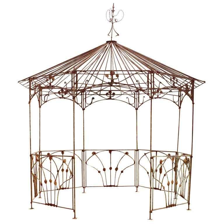Octagonal Wrought Iron Gazebo At 1stdibs